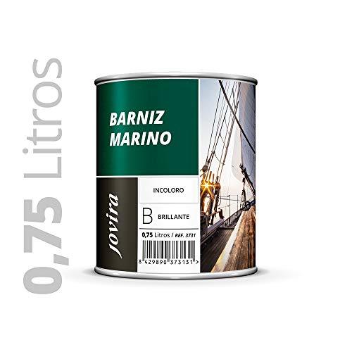 BARNIZ MARINO BRILLANTE (Barniz madera exterior-interior, barniz madera incoloro-transparente) Especial resistencia en ambientes marinos. 750ML