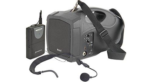 Adastra H25 Mobiel Megaphon-PA-systeem met nekband en microfoon