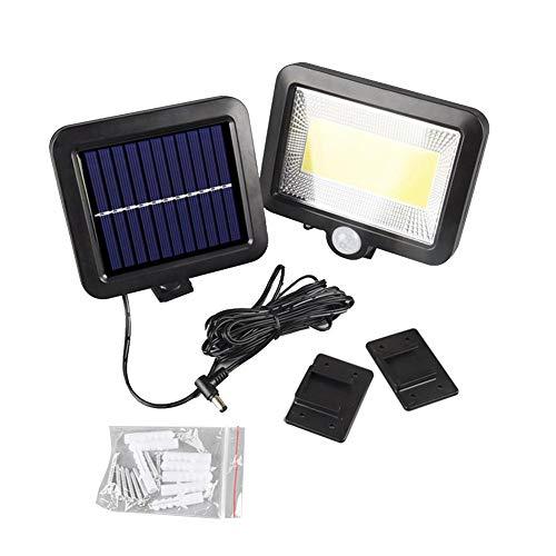 Lámpara LED de pared para exterior, resistente al agua, foco solar con detector de movimiento, lámpara de pared para exteriores