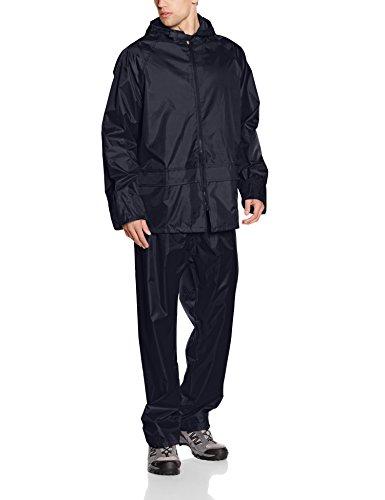 Result Herren Heavyweight Waterproof Jacket & Trouser Set Regenmantel, Blau-Blau (Marineblau), Large