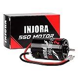 INJORA RC Motor 550 Brushed Motor for 1:10 RC Crawler Axial SCX10 AXI03007 JL 90046 TRX4 TRX6 RC Car Boat (21T)
