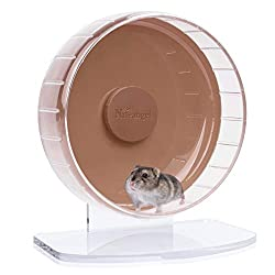 Niteangel Super-Silent Hamster Exercise Wheels - Quiet Spinner Hamster Running Wheels with Adjustable Stand for Hamsters Gerbils Mice Or Other Small Animals