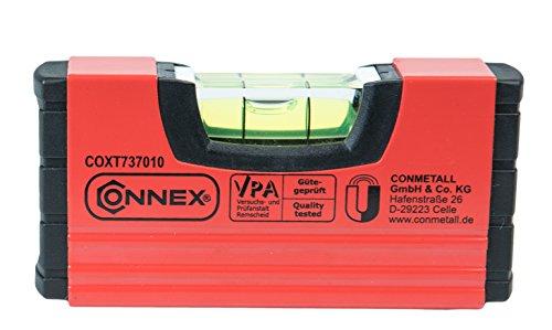 Connex COXT737010 Mini-Wasserwaage 10cm, magnetisch