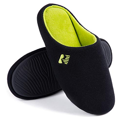 RockDove Men's Two-Tone Lightweight Slip-On with Memory Foam, Size 11-12 US Men, Black & Lime