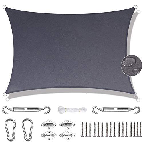 Rectangular Toldo 4x5m Impermeable Toldo Parasol Libre Kit de Fijación para Jardín,...