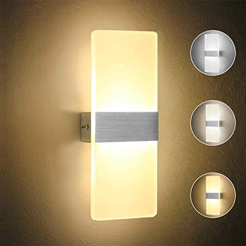 European Retro 8 Inch Gemstone Wall Lamp Bed Bedroom Living Room Study Aisle Staircase Balcony Bar Restaurant Wall Lamp Glass Metal LED Lighting Wall Lamp