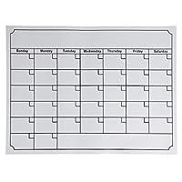 ホワイトボード磁気マンスリーウィークリープランナーカレンダースケジュール冷蔵庫用 (White)