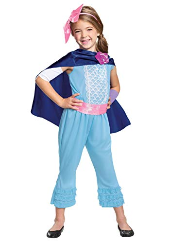 Disney Pixar Bo Peep Toy Story 4 Classic Girls CostumeSmall (Ize/4-6X)Blue
