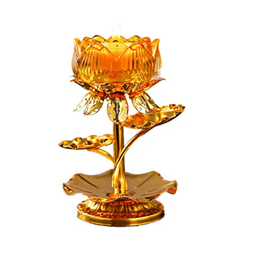 ACPETTY Diwali Diya Votive Candle Holder Religious Lotus Flower Shape Tea Light Candle Holder Stand Decorative Candlestick for Parlor, Bedroom, Office, Wedding, Dining Table, Party, Home Decor