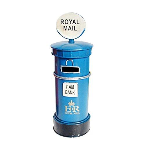 OUNONA Mailbox Spardose Briefkasten Spardose M¨¹nze Bank British London Street Post Box Home Dekoration (Blau)