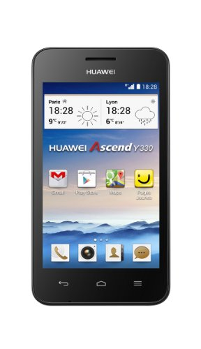 Huawei Ascend Y330 Smartphone (10,1 cm (4 Zoll) TFT-Touchscreen, 3 Megapixel Kamera, 4 GB Interner Speicher, Android 4.2) weiß