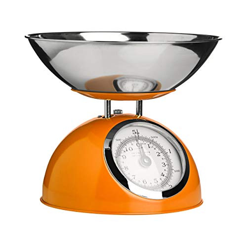 HealthCentre Premier Housewares 5 Kg Mechanical Kitchen Scale, Orange