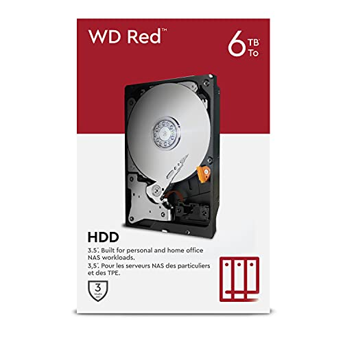 "WD Red 6TB NAS 3.5\"" Interne Festplatte - 5400 RPM Class, SATA 6 Gb/s, SMR, 256MB Cache"