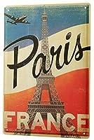 フランス・パリ金属ブリキ看板ホーム装飾壁アート