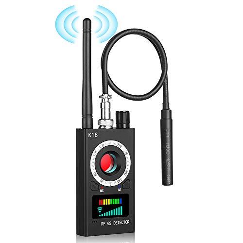 Hidden Camera Detector, tebrigo Anti Spy RF Signal Wireless Bug Detector,GPS Tracker Detector, Listening Device Finder,Laser Lens Magnetic Field Detectors with Radar Radio Scanner for Home,Hotel,Car