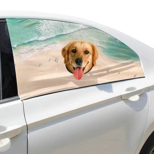 Plsdx Sommer Sand Strand Hund Sicherheit Autoteil Fahrzeug Auto Fenster Zaun Vorhang Barrieren Protector Für Baby Kind Sonnenschutz Abdeckung Universal Fit SUV
