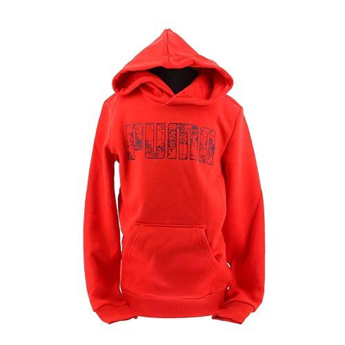 PUMA - Sweatshirt Junior Hoodie Kinder/Jungen Kapuzenpullover 583236 11 rot - 4-5 Jahre, Rot