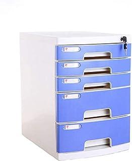 Classeurs WHLONG Fichier Bleu données Tiroir Fichier Bureau Armoire de Bureau Papier A4 en Plastique ménages Armoire de Ra...