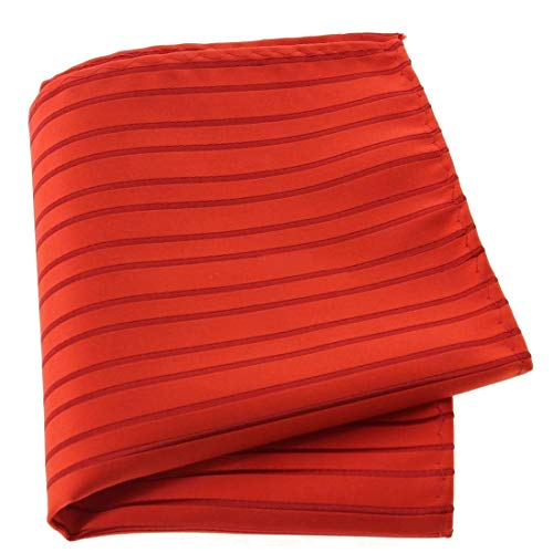 Clj Charles Le Jeune. Pochette, Microfibre. Rouge, Club/rayé.