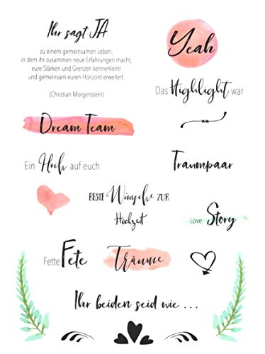 Hochzeits Sticker (Watercolors & Handlettering Design) | 133 Stück - 6