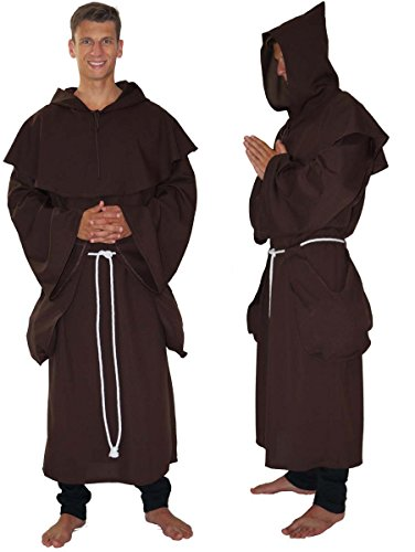 Maylynn 14109 - Costume médiéval de Moine - 3 pièces - XL