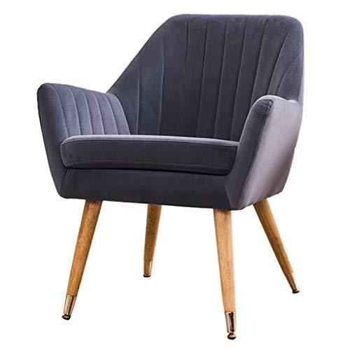WEIJINGRIHUA - Sgabello per divano piccolo, in legno massello, in tessuto di velluto, per sala da pranzo, divano singolo nordico