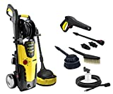 Lavor Idropulitrice Ad Acqua Fredda STM 160 WPS PLUS con Programmi di Lavaggio Soft/Medium/Hard, 2500 W, 230 V, 160 bar max, 510 l/h max con Spazzola Rotante e Lava Patio