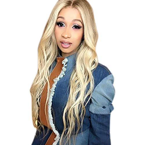 Femmes Noires Blonde Dégradé Longue Perruque Synthétique Bouclée Pleine Mode Ondulée Dégradé Sunenjoy