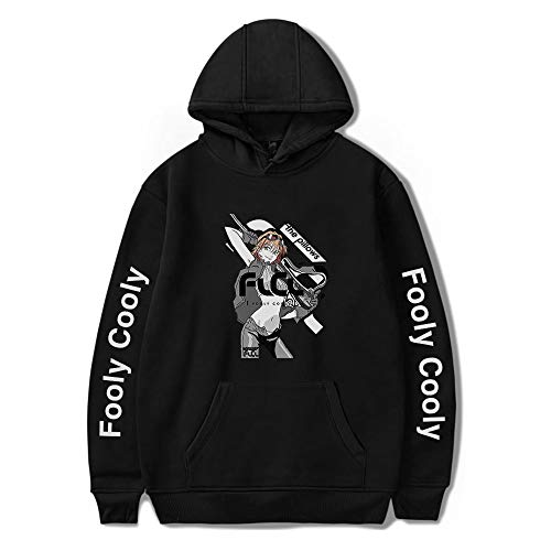 WAWNI FoolyCooly Anime Fashion Hoodies Women/Men Long Sleeve Hooded Sweatshirts Casual Pullover Clothes (Black2,L)
