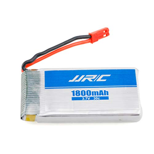 Mintuse 1 Pcs 3.7V 1800mAh 30C Lipo Battery for JJ-RC H68 RC Quadcopter Drone Spare Parts Battery (White)