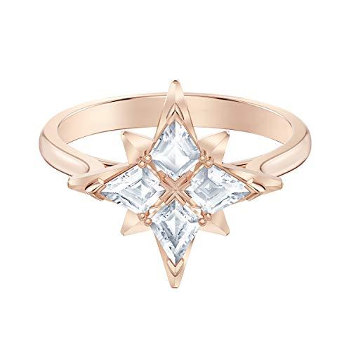 Swarovski Anello con Motivo Symbolic Star, Bianco, Placcato Oro Rosa