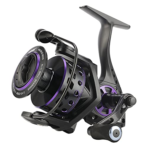 SeaKnight Magnus Spinning Reels - 5.2:1 Lightweight Fishing Reel, 8+1BB Ultra Smooth Spin Reels, 28LB Max Drag, Size 2000-6000 Smooth Powerful Fishing Reel for Freshwater