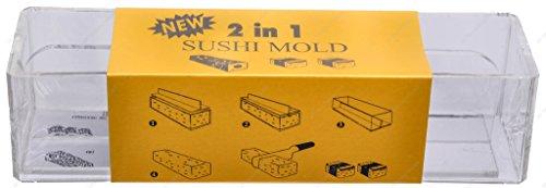 Kitchen Helper TD-065 Spam Musubi Sushi Rice Press, 8.25'(L) x 2'(W) x 2.25'(H)