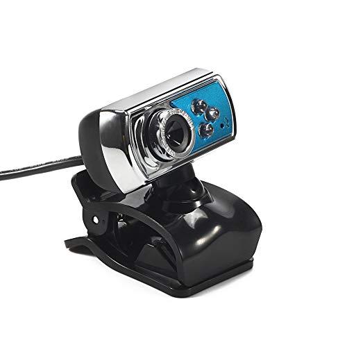 Usb Webcam, Webcam, USB-interface, met clip, met microfoon, met LED-nachtlampje, voor LCD-scherm en notebook