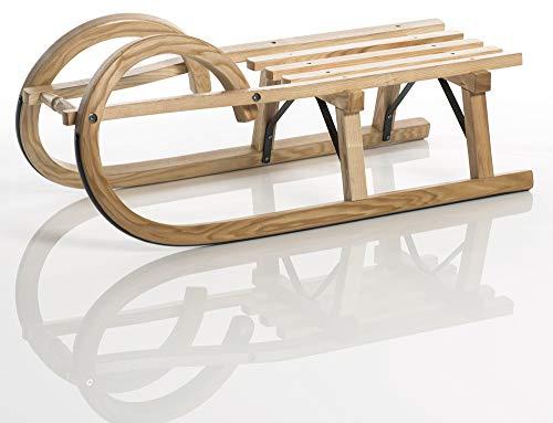 Sirch Hörnerschlitten Standard Plus mit Lattensitz (Länge: 85 cm, esche lackiert 2 Bockstützen)
