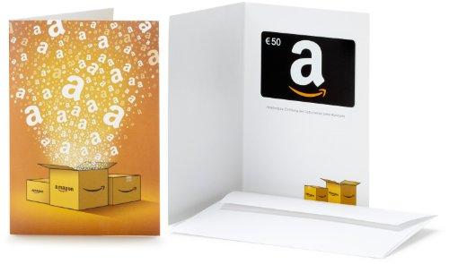 Amazon.de Geschenkkarte in Grußkarte - 50 EUR(Alle Anlässe)