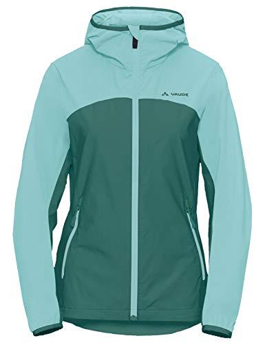 VAUDE Damen Jacke Women's Moab Jacket III, Softshelljacke zum Mountainbiken, nickel green, 40, 408639840400