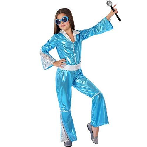 Atosa Disfraz de Disco Azul para niña 10 a 12 años