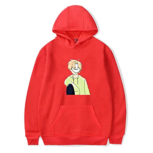 DreamWasTaken Youth long sleeve Tops Kids Hoodie Sweater Boys Sweatershirt Top Unisex Cotton Pullover Top Red XXS