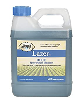 Liquid Harvest Lazer Blue Concentrated Spray Pattern Indicator - 32 Ounces