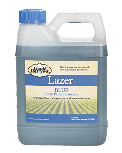 Liquid Harvest Lazer Blue Concentrated Spray Pattern Indicator - 32 Ounces...