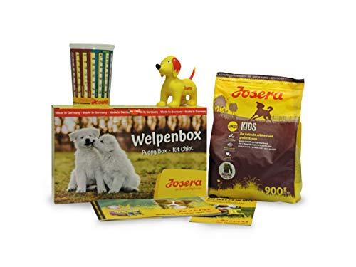 JOSERA Welpenbox mit Kids Welpenfutter | für mittlere und große Rassen | inklusive Messbecher, Welpenfibel und Quietsche-Spielzeug | Super Premium Trockenfutter für wachsende Hunde | 1er Pack