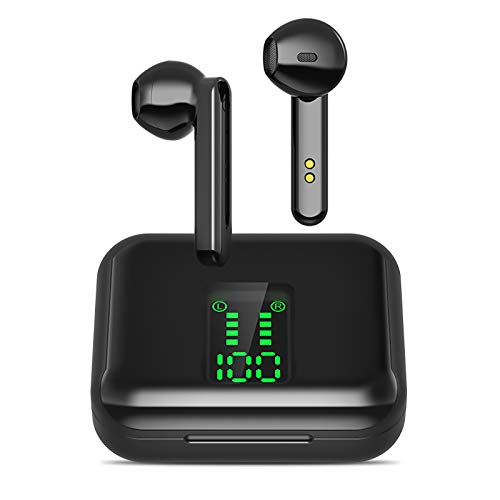 Cuffie Bluetooth 5.0, 3D Stereo Cuffie Bluetooth Senza Fili 【24H Playtime】 Auricolare Bluetooth con HD Mic e Scatola di RIC.