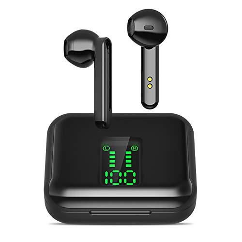 Écouteurs Bluetooth 5.0, Écouteurs sans Fil Bluetooth Mini écouteurs Intra-Auriculaires, Couplage Automatique, Sports écouteurs pour Android/iPhone/Samsung/Huawei/Xiaomi