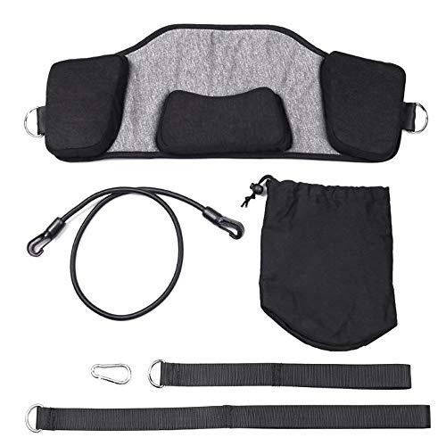 Der suspendierte analgetische Retraktor, ein tragbares Gerät zur Erweiterung des Zervix-Traktionsgeräts, kann Männer, Frauen und Kinder entlasten (dunkelgrau)