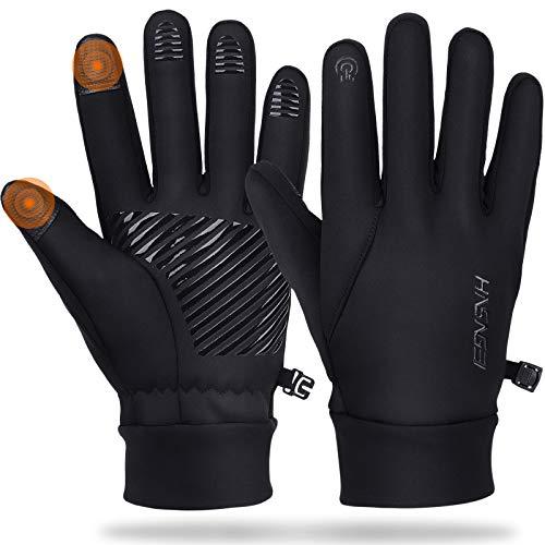 Winterhandschuhe Herren Touchscreen Handschuhe Damen Winddicht Rutschfeste Fahrradhandschuhe Winter Warm Handschuhe Wasserabweisend Trainingshandschuhe Warme Fleece für Laufen, Fahren, Radfahren