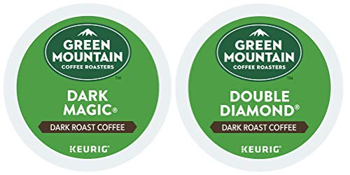 Green Mountain Coffee -- DARK MAGIC & DOUBLE BLACK DIAMOND -- Extra Bold Variety Pack 48 K-Cups for Keurig Brewers