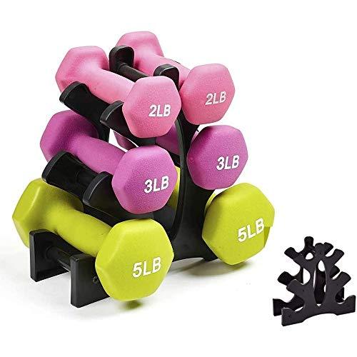 S-Chihir Sets Glocken Hantel-Set mit Ständer Gewichte Hanteln Hand Free Home for Gym Glocken Sets Racks-3-Tier for Handgewicht Turm-Standplatz for Gym Organisation Home Exercise (No Dumbbells)