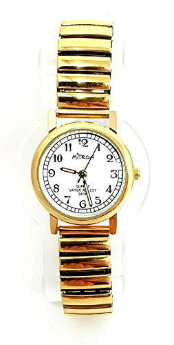 Mitron Damenuhr goldfarbend mit Flexband / 63549