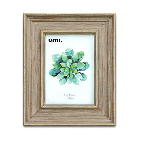 UMI.by Amazon - Einfacher klassischer Fotorahmen 5X7 Zoll (13X18 cm) PS-Schaum-Umweltschutz-Bilderrahmen,Wanddekoration und Tabletop-Display(Brown)